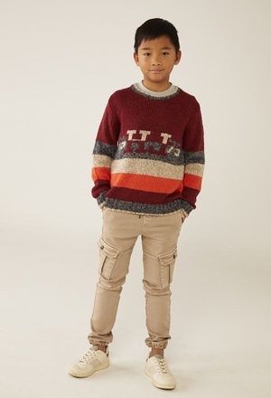 Knitwear pullover striped for boy_1