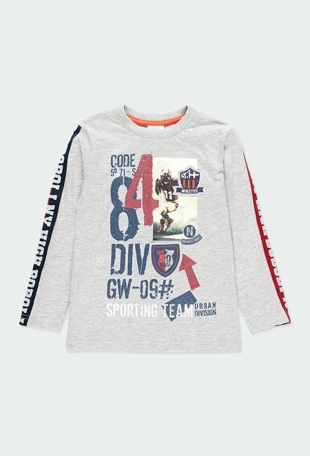 "Knit t-Shirt ""84"" for boy_1"