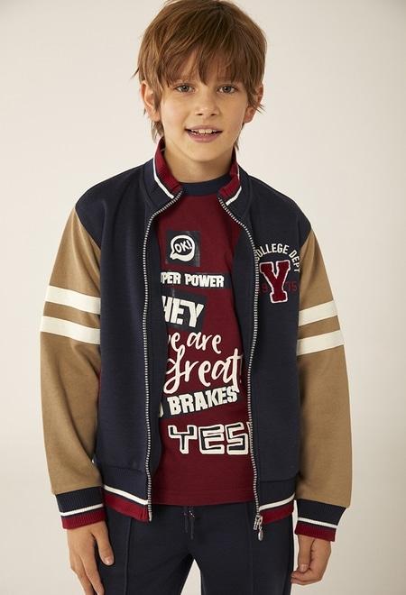 Knit jacket fantasy for boy_1