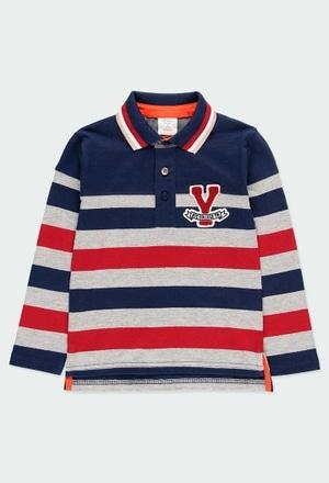 Knit polo striped for boy_1
