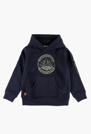 Sweatshirt plüsch mit mütze für junge_1