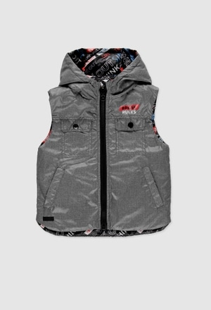 Technical fabric reversible vest for boy_1