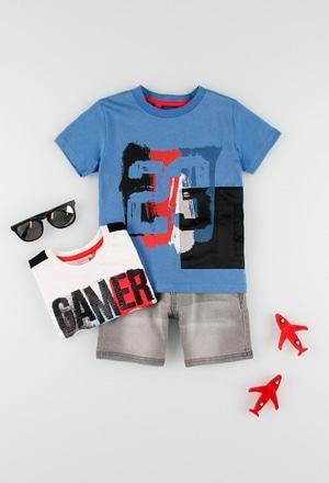 T-Shirt glatt gestrickt für junge_1