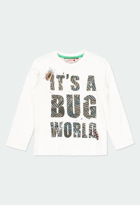"Camiseta punto ""letras"" de niño_1"