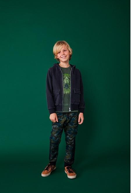 "Knit t-Shirt ""bbl 1984"" for boy_1"