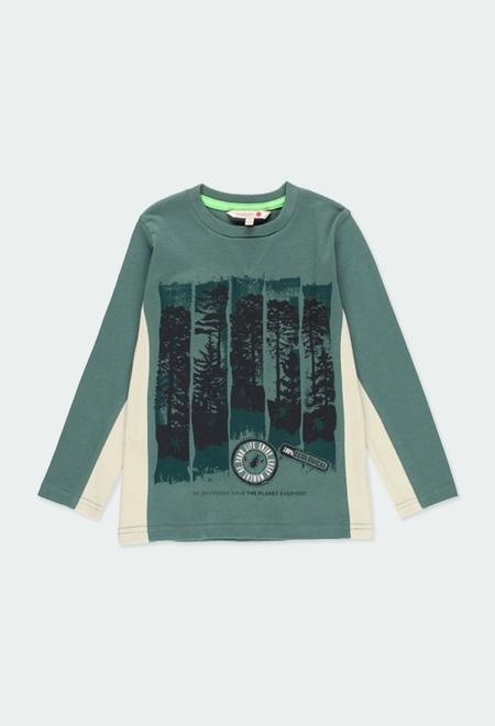 """T-Shirt tricot """"arbres"""" pour garçon_1"""