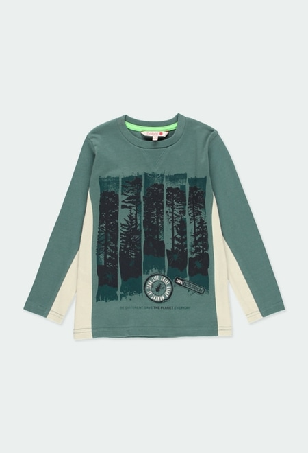 "Knit t-Shirt ""trees"" for boy_1"