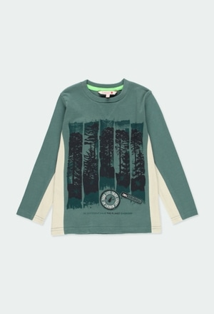 "Camiseta malha ""árvores"" para menino_1"