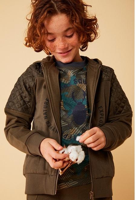 Camiseta malha camuflagem para menino_1