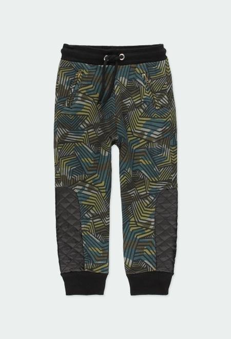 Fleece trousers camo for boy_1