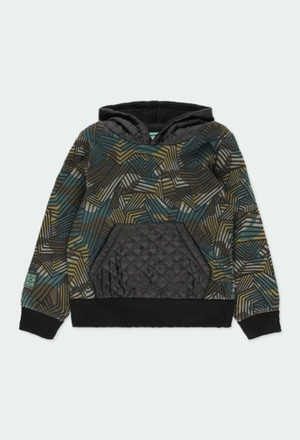 Fleece sweatshirt camo for boy_1