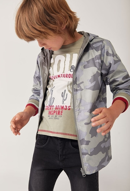 T-Shirt tricot teinte pour garçon_1
