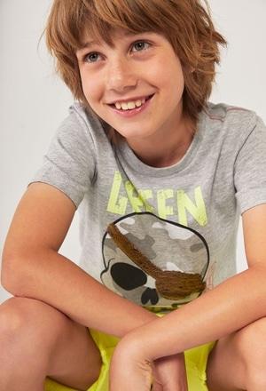 """Camiseta malha """"crânios"""" para menino_1"""