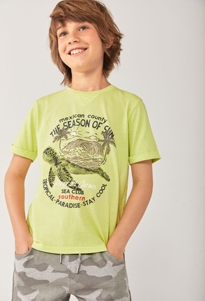 "Knit t-Shirt ""turtles"" for boy_1"
