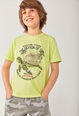 """T-Shirt tricot """"tortue"""" pour garçon_1"""