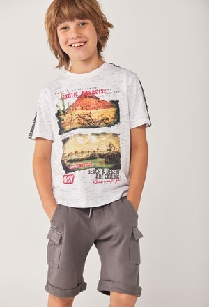 "Camiseta punto ""paradise"" de niño_1"