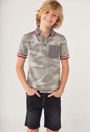Polo gestrickt camouflage für junge_1