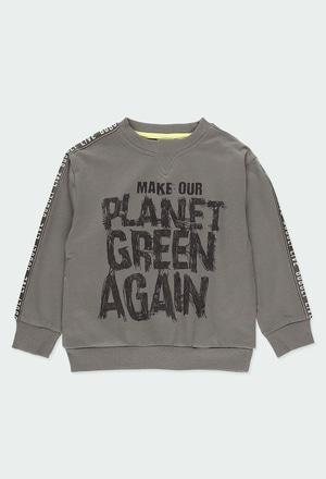 Sweat-Shirt plüsch mit streifen für junge_1