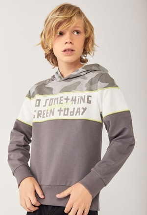 Fleece with hood sweatshirt for boy_1
