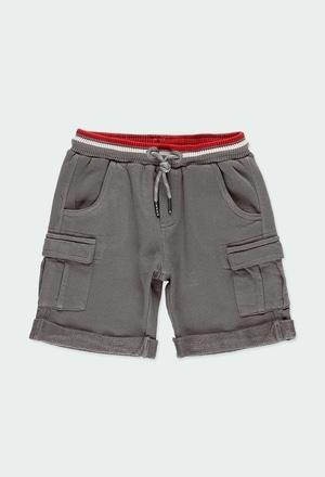 Bermuda felpa con bolsillos de niño_1
