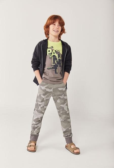 Pantalón felpa camuflaje de niño_1