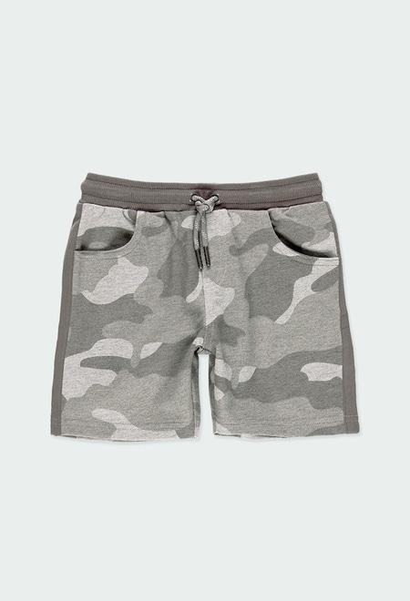 Bermuda felpa camuflagem para menino_1