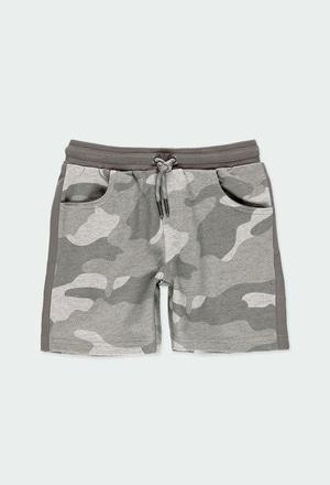 Fleece bermuda shorts camo for boy_1