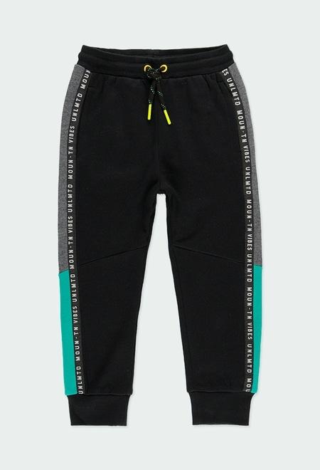 Pantalon en molleton avec bandes pour garçon_1