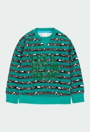 Fleece sweatshirt striped for boy_1