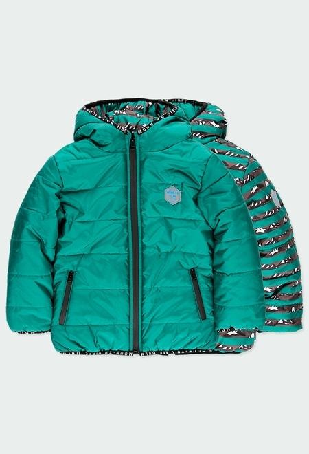 Technical fabric parka for boy_1