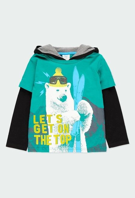 Camiseta punto con capucha de niño_1