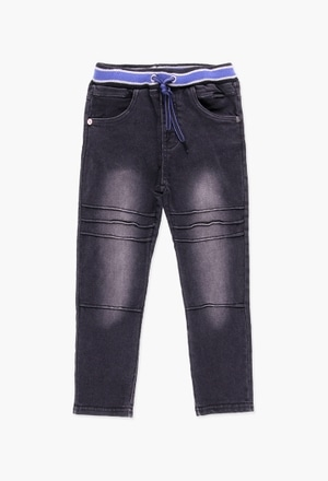 Stretch denim trousers for boy_1