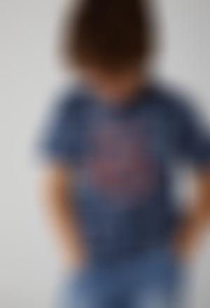 Camiseta punto flamé de niño