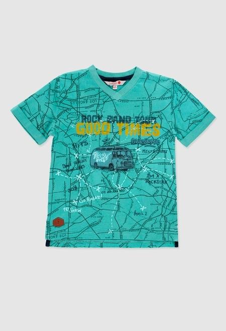 T-Shirt gestrickt flame für junge_1