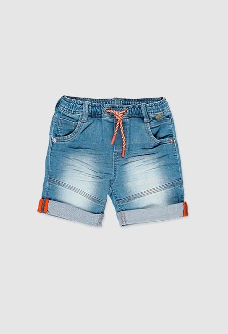 Bermuda en jean stretch pour garçon_1