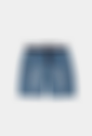 Fleece bermuda shorts denim for boy
