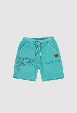 Fleece bermuda shorts flame for boy_1
