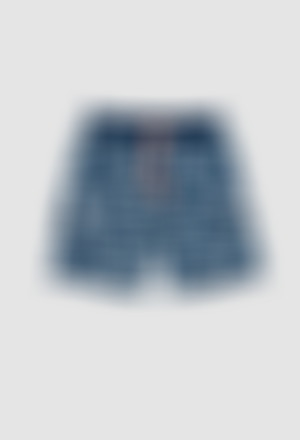 Fleece bermuda shorts flame for boy