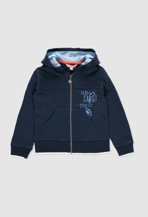 Chaqueta felpa con capucha de niño_1