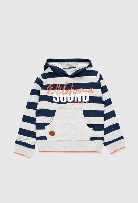 Fleece hooded sweatshirt for boy_1