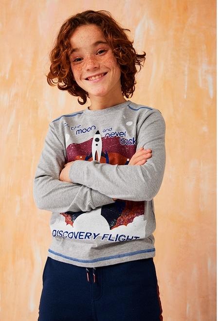 Knit t-Shirt rockets for boy_1