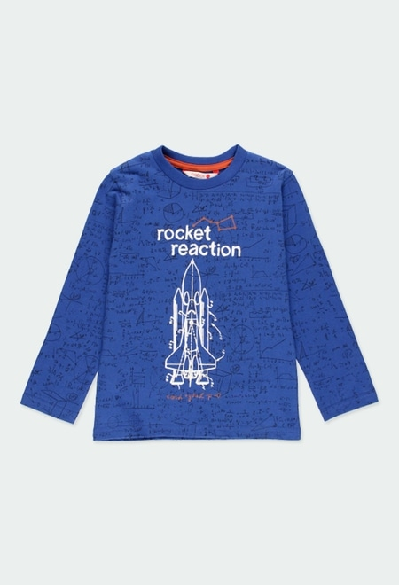 Knit t-Shirt rockets for boy_1