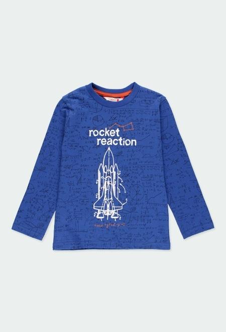 T-Shirt gestrickt raketen für junge_1
