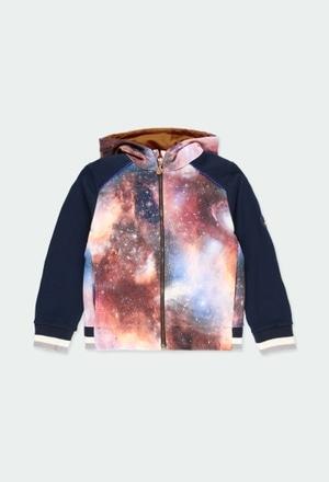 Fleece jacket printed for boy_1