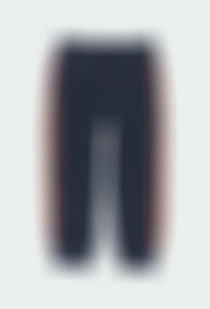 Pantalón felpa con bolsillos de niño