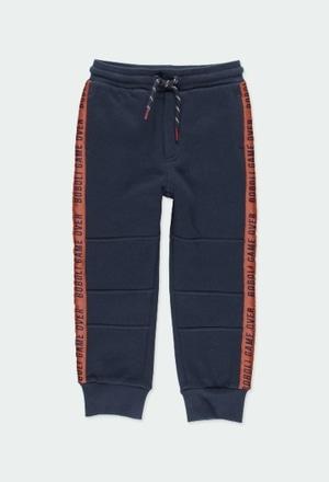 Pantalón felpa con bolsillos de niño_1