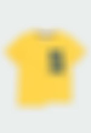 """Camiseta malha """"surf team"""" para menino"""