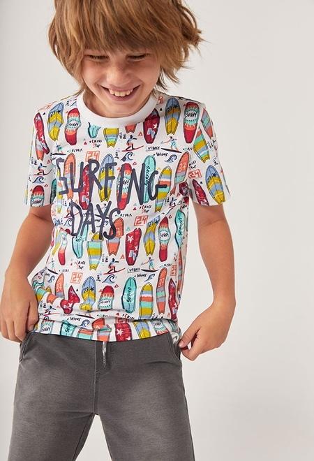 """T-Shirt tricot """"surfing"""" pour garçon_1"""
