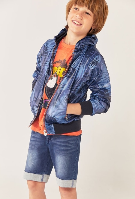 "Camiseta malha ""p?ssaro"" para menino_1"