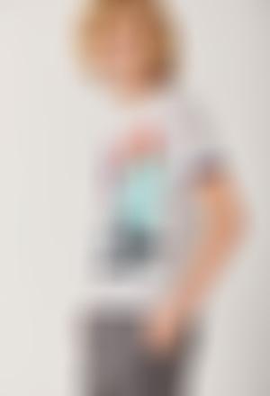 "Camiseta punto ""skateboard"" de niño"